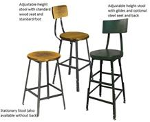 INDUSTRIAL SHOP STOOLS - WITH BACKREST